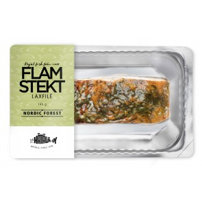 Laxfilé flamstekt Nordic Forest portion, 140g